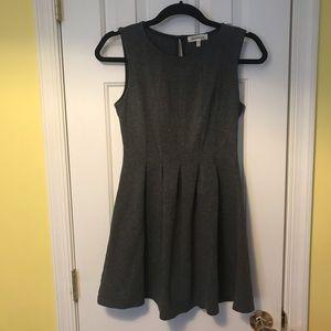 Grey High Neck Business Dress